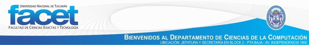 Departamento de Ciencias de la Computación - FACET - UNT - Tucumán logo