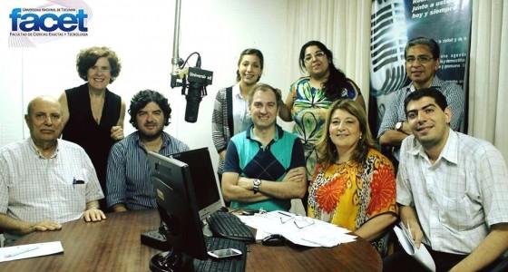 """Programa de Radio """"Exactas para Todos"""" con la conducción de Lía Torres Auad y Jorge Namour"""